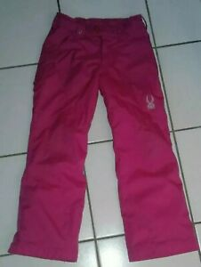 KIDS ADJUSTABLE WAIST THINSULATE SPYDER SNOW PANTS - SIZE 8