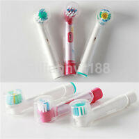 4pc Electric Toothbrush Clear Round Head Cover Anti Dust for Braun AU