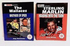 2 Racing Superstar Series Books The Wallace Brothers Of Speed & Sterling Marlin
