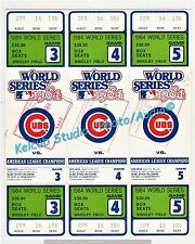 1984 Chicago Cubs REPRO Uncut World Series Tickets Mint Phantom Tix