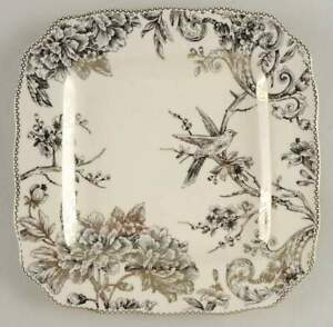 222 Fifth Adelaide Electroplate Gold  Square Dinner Plate 11191940
