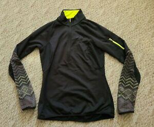 EUC Pearlizumi Women's 1/2 Zip Thermal Cycling Jersey Size Medium M Color Black