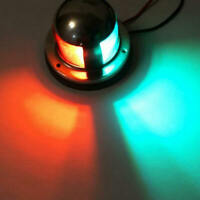1pc LED Marine Bow Boat Yacht Navigation Green Red Light 12V Stainless Steel