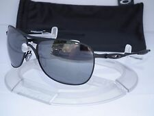 NEW OAKLEY CROSSHAIR AVIATOR SUNGLASSES OO4060-03 MATTE BLACK / BLACK IRIDIUM