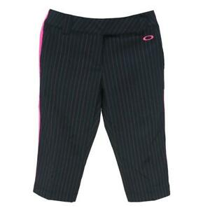 Oakley Albatross Capri 10 US 14 AU Womens Ladies Black Pink Casual Golf Pants