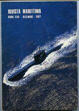 Rivista Marittima - 1982. Periodico mensile della Marina Militare. Presenti