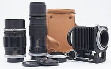 CANON FL 135mm F/3.5 200mm F/4.5 LENSES + BELLOWS R + EXTRAS