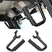 2Pcs Grab Handles Front Grab Bars Hard Solid Steel For Jeep Wrangler TJ 1997 Up