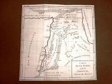 Siria Libano Palestina Acquaforte del 1779 Mappa Histoire Universelle Moutard