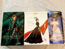 Lot of 3 Barbie NRFB Emerald Dreams Romantic Evening Enchanted Evening CE
