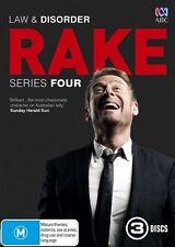 Rake : Series 4 (DVD, 2016, 3-Disc Set)