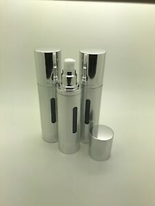 Airless pump bottle with cap