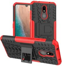 Nokia 3V Case Heavy Duty Shockproof With Kickstand Hard PC Back Cover Dual Layer