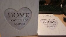 Picture/Photo Frame Heart Shaped 'home is where the heart is'