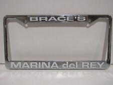 Brace's Marina Del Rey Dealership License Plate Frame Metal Tag CA