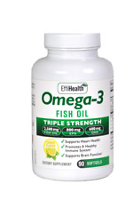 EffiHealth Omega-3 Fish Oil- Triple Strength 2500mg Fish Oil- 800 EPA + 600 DHA