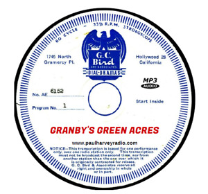 GRANBY'S GREEN ACRES (6 SHOWS) OLD TIME RADIO MP3 CD