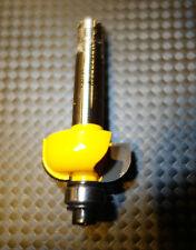 Oberfräse Fräser 8 er Dewald Kehl Fräser D=21,5 mm R6 . Gelb . 2 HM Holz Plexi