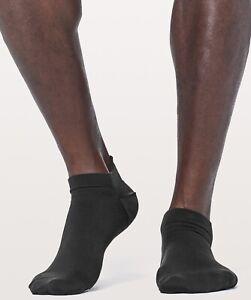 Lululemon Men's Surge Tab Silver Sock Socks Athletic Silver Black Asphalt Grey