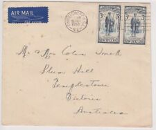 Used Air Mail New Zealand Stamps
