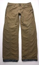 S177 G-Star Raw Khaki Relaxed Straight Denim Lined Pants (Measures 32.5x30)