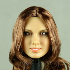 1/6 Phicen, Hot Stuff, Kumik, Flirty Girl Female Long Brunette Hair Head Sculpt