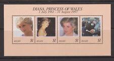 1998 Princess Diana Memorial Stamp Sheet MNH Belize SG MS1226
