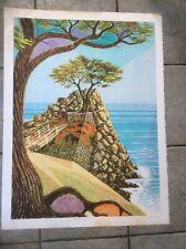 "Lacamara ""Ode to Life ""Lithograph,Cuban Artist Signed California Landscape"