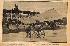 PARIS PARC-DES-PRINCES CONCOURS BICYCLETTES-AVIETTES AVIONS IMAGE 1912