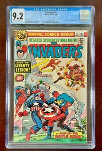 INVADERS #6 CGC 9.2 NM (1976) 🔑 JACK KIRBY COVER 🔑 LIBERTY LEGION APPEARANCE