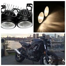Motorbike Twin Round Dominator Headlights Streetfighter Head Lamp With Bracket