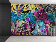 wall26 - Colorful Graffiti - Large Wall Mural, Home Decor - 100x144 inches