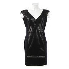 GUESS Damen Kleid Pailletten schwarz M L 38 viskose Polyester Elasthan