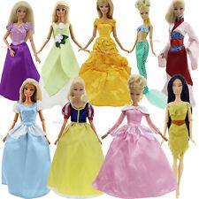 Retro 5 Random Princess Series Dress Wedding Gown Clothes For Barbie Doll Lot