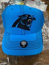 Carolina Panthers Hat Large/XL Stretch Fit Glacier Blue Christian McCaffrey