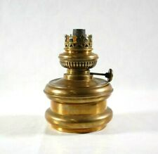 More details for vintage oil lamp brass oil lamp brass base made in england
