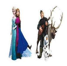 FROZEN Anna,Elsa,Olaf,Sven e Kristoff 30cm Biglietto Ritagli Confezione Da 2