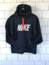 MENS VINTAGE RETRO NIKE THERMA-FIT POLYESTER SWEATSHIRT SWEATER HOODIE UK M #45