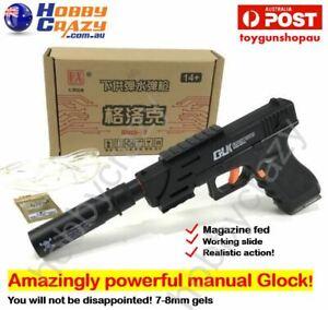 Ren Xiang RX Glock 18 Manual Magazine Fed Gel Ball Pistol Best Manual Glock Toy
