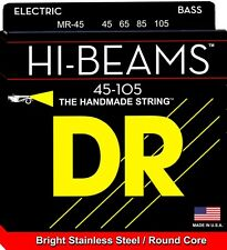 DR MR-45 HI-BEAM STAINLESS STEEL BASS STRINGS, MEDIUM GAUGE 4's - 45-105