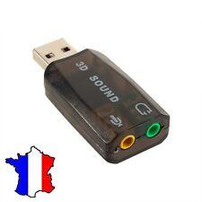 Adaptateur Clé Usb connecteur jack 3.5MM micro 3d, casque audio Stéréo Carte son