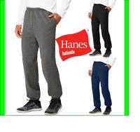 Hanes Fleece Sweatpants w/ Pockets Ultimate Cotton Sport Heavy