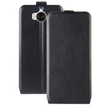 Vertical Flip PU Leather Case Fashion Card Holder Wallet Cover For Mobiles Black
