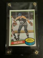 RARE 1980-81 Mark Messier Rookie Card  HOF #289 Opeechee Edmonton Oilers
