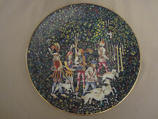Tapestry #2 collector plate Start Of The Hunt Haviland 1972 Limoges Unicorn