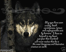 Wolf Poster/Wildlife/Animal Print/Enviormental/Environment/Inspirational/16x20in