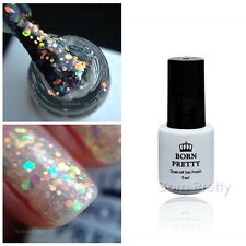 Glitter Sequins UV Gel Polish 5ml Clear Nail Soak Off Manicure Decor Born Pretty