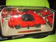 89 PORSCHE 911 SPEEDSTER RED  intex 1989 1/18 SCALE DIECAST