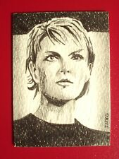 ACEO Sketch Card Stargate Amanda Tapping as Samantha Carter