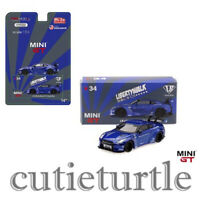 Mini GT USA Exclusive LB Works Nissan Skyline GT-R R35 1:64 Candy Blue MGT00034